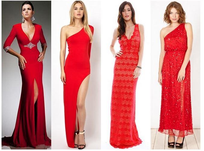 Красное новогоднее платье 2019