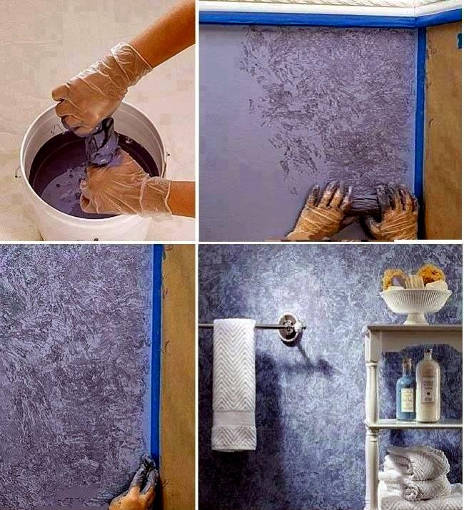 Pogledajte kreativne na ine da okre ite zidove mogu ja for Unusual painting techniques