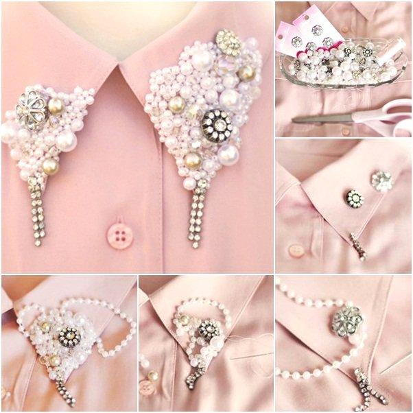 Modni detalji za novogodisnju noc Diy-shirt-collar-pearls-buttons-embellishments